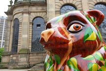 The Big Sleuth 2017 / This board is a selection of photos from The Big Sleuth Trail 2017 in Birmingham with the Addmaster 'Biomaster Bear' and The West Brom 'Picnic Bear'