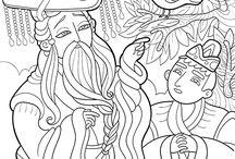 Fairy Tales · Eventyr / Hans Christian Andersen · colouring book