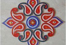 Rangoli - Colors, Kundan & Flowers / by Gayathri Manikandan