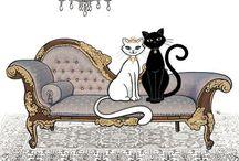 kočky v umění