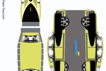 papír autó modellek