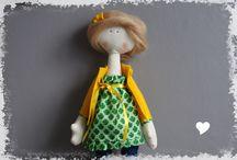 My handmade doll - Stand / handmade doll height 38 cm