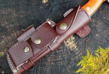 Knife sheaths / Leather work and leather knife sheathes