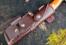 Knife sheaths / Leather work and leather knife sheathes