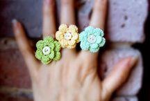 anelli fiori uncinetto