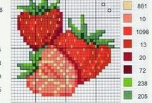 Cross stitch fruit and vegetables