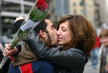 Sant Jordi in Catalonia / One of the popular traditions in Catalonia on April 23. The day of books and roses.