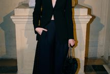 Guests at the Sonia Rykiel Autumn Winter 2017 Fashion Show / Guests at the Sonia Rykiel Women's Autumn Winter 2017 fashion show in Paris wore Sonia Rykiel by Julie de Libran