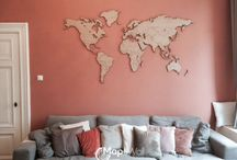 World maps / All types of world map wall decoration