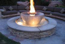 Garden lights fire decor
