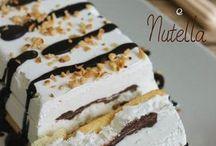 torta gelato alla panna e Nutella