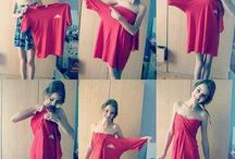 DRESSES OUT OF SHIRTS