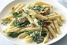 Pasta Dishes / All animal ingredients can be replaced with vegan substitutions. / by Tate Bagwell