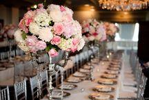 a pink wedding board