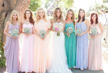 pastel brides maid dresses