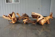 Raw Juniper Wood