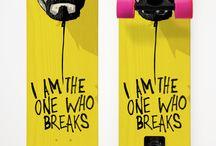 Breaking board / A skateboard on Colours of Breaking bad