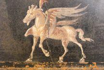 frescos / técnica de decoración mural al fresco sobre estuco de cal