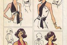 Vintage sewing patterns tops
