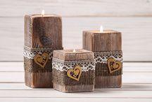 dřevěné svícny