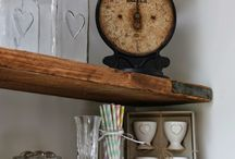 Dining room Inspiration And Ideas / Scaffolding Tables, Shelves and Upcycling For Our Dining Room.