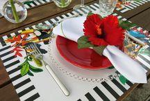 Rouparia de mesa / Ideias para decorar a mesa