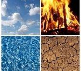 water, vuur, aarde, lucht