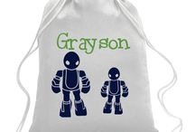 Custom Drawstring Bags / Fun drawstring bags for sports, a day at the park, travel, or everyday use!