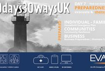 #30Days30WaysUK-Day 7 September is Preparedness Month / In the UK, the #30Days30WaysUK campaign is getting bigger and better every year. It is run by a number of dedicated Emergency Planners up and down the country and coordinated by the brilliant Northamptonshire Emergency Planning Team. More info see http://evaq8.co.uk/30days30waysUK2016.html