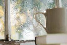 coffee and rain