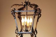 Wrought iron lanterns / Wrought iron lanterns for interiors and outdoors
