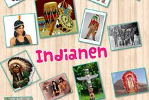 Indianen collage