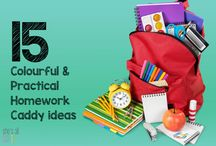 Homework Caddy Ideas / A homework caddy is simply a place to store all the necessary supplies that are required to complete the homework. For more awesome organisational ideas and storage solutions, check out www.shesallsorted.com #shesallsorted #homework #homeworkcaddy #organise #backtoschool #school