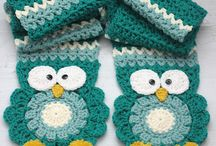 owl scarf two halves