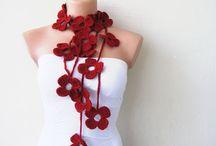 Gehaakte bloemen sjaal