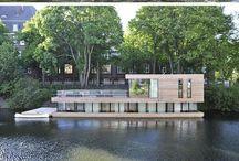 Lake, river - buildings