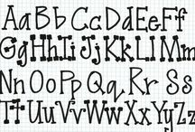 Typography / Fonts, letters, calligraphy