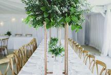 greenery wedding inspiration / Its all about the foliage!