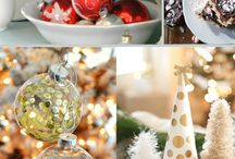 Holiday goodies and decorations
