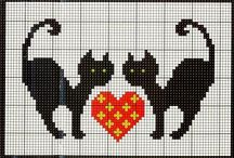 cats - cross stitch