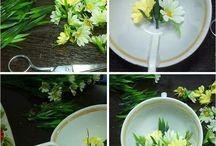 csészés virágdiszek