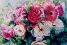 My Flower Garden(oil painting) / http://www.eonet.ne.jp/~arias/midori-yoshida