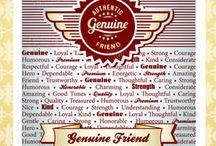 Genuine Friends Background Stamp