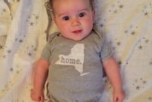 "Home T Babies! / Prepare yourself for a cuteness overload. Over the last couple months, we've received photos of babies all over America rocking their Home T baby onesies. Each cheek was chubbier than the next, so we decided to celebrate all the adorableness in an official Pinterest board. Oh, and we dare you to try and not say ""awww"""