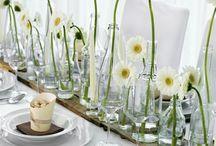 Tischdekorationen / moderne Tischdeko für Hochzeiten