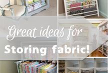 Quilting storage, quilting rooms