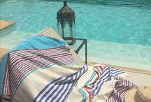 Hammam beach towels / 100% cotton Tunisian hammam beach towels. Colours to match every bikini