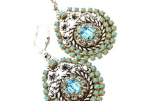 The Fancy Earrings in Aquamarine/Turquoise