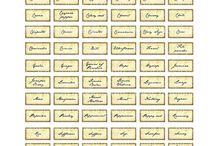 miniature printable labels