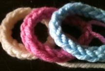 Funky braislets / Knitted braislets